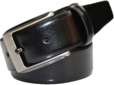 Haywire Men Formal Black Genuine Leather Belt