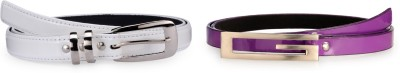 Allura Women Evening, Party, Casual, Formal White, Purple Synthetic Belt