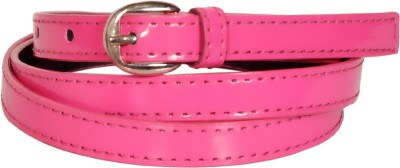 Swan Collection Girls, Women Casual, Formal Pink Artificial Leather Belt