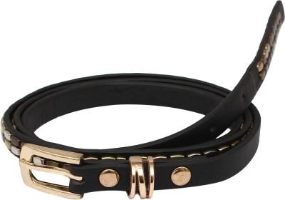 SRI Women Black Artificial Leather Belt