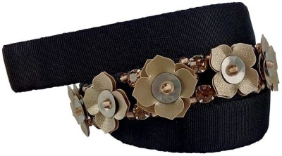 Demigods Girls, Women Formal, Evening Black Fabric Belt