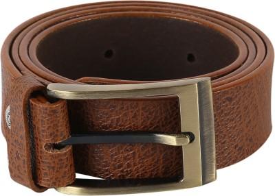 TIE & CUFFS Men Formal Tan Genuine Leather Belt