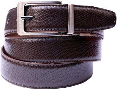 Moac Men Casual Brown Artificial Leather Belt