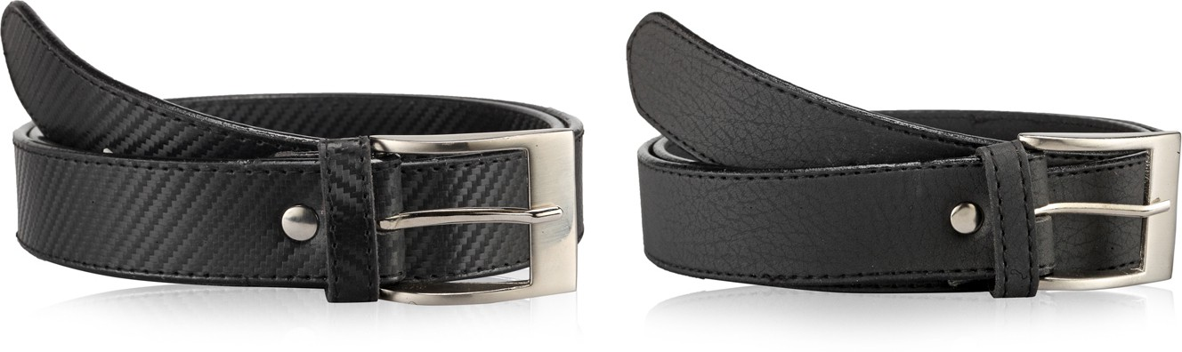 Allura Men Evening, Party, Casual, Formal Black Synthetic Belt