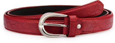 Arum Women Red Genuine Leather Belt