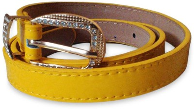 Rege Women Casual Yellow Artificial Leather Belt
