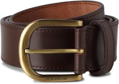 Peter England Men Brown Genuine Leather Belt