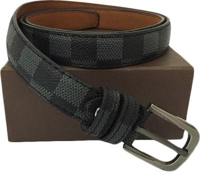 Zaira diamond Women Grey Genuine Leather Belt