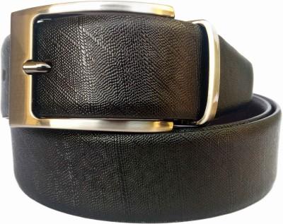 SGE Men Formal, Party, Evening Black, Brown Genuine Leather Reversible Belt