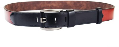 ABHINAVS Men Casual, Party Brown, Black Genuine Leather Belt