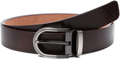 DHide Designs Men Casual, Party, Formal, Evening Brown Genuine Leather Belt