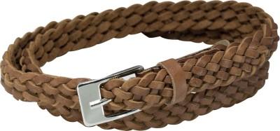 Honeybadger Women Casual Brown Genuine Leather Belt