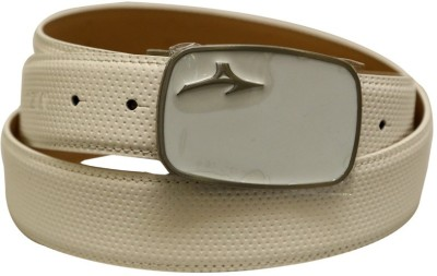 Mizuno Men Formal White Genuine Leather Belt