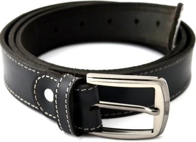 Urban Diseno Men Black Genuine Leather Belt