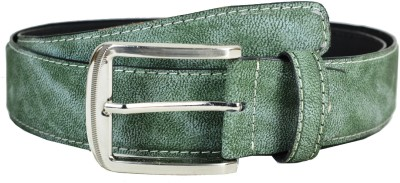 Opaque Men Formal Green Artificial Leather Belt