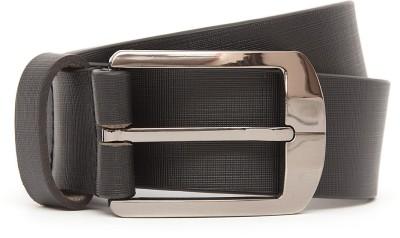 Kethini Men Formal Black Genuine Leather Belt