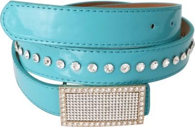 Super Drool Girls, Women Formal Blue Artificial Leather Belt