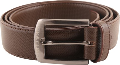 TIE & CUFFS Men Formal, Party, Casual Brown Genuine Leather Belt