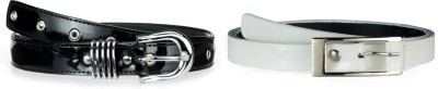 Allura Women Evening, Party, Casual, Formal Black, White Synthetic Belt