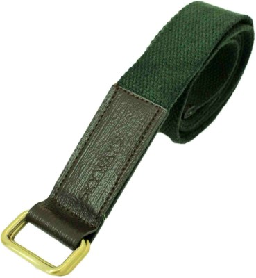 SkyWays Men Formal, Casual Green Canvas Belt