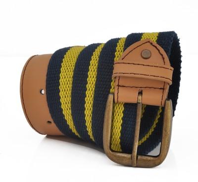 Stylox Men Casual Yellow Genuine Leather Belt