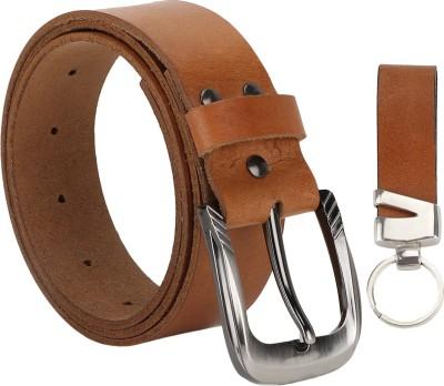 The Runner Men Casual Brown Genuine Leather Belt
