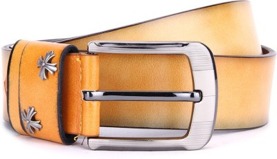 Swiss Design Men Yellow Genuine Leather Belt
