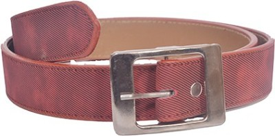 Aam Shopping Men Red Artificial Leather Belt