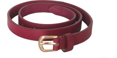 Vickiana Quest Girls, Women Casual, Formal Pink Genuine Leather Belt