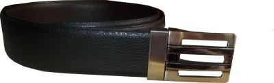 Avgi Men Casual Black Genuine Leather Reversible Belt