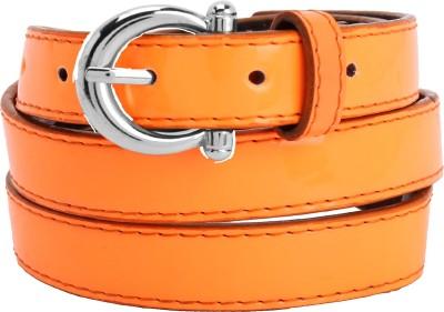 Aadaana Women Casual Orange Artificial Leather Belt