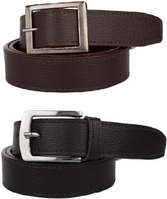 Rocksy Men Casual Black, Brown Artificial Leather Belt