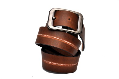 JD Designer Belt Men Casual Tan Genuine Leather Belt