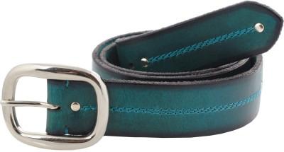 tZaro Men Casual Green Metal, Genuine Leather Belt