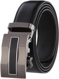 Pardhan Boys Black Genuine Leather Belt
