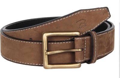 Kaizu Men Casual Tan Genuine Leather Belt