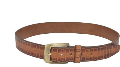 Fub Men Casual Tan Genuine Leather Belt