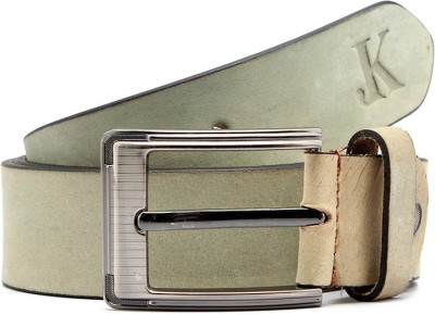 Junckers Men, Boys Formal, Casual, Party, Evening Grey Genuine Leather Belt