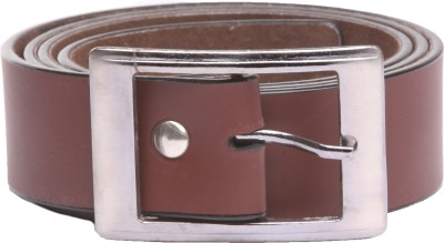Srjls Men Formal Brown Synthetic Belt