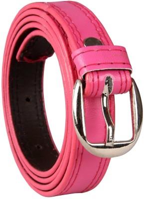 viaharp Women, Girls, Men, Boys Casual, Party, Formal, Evening Pink Artificial Leather Belt
