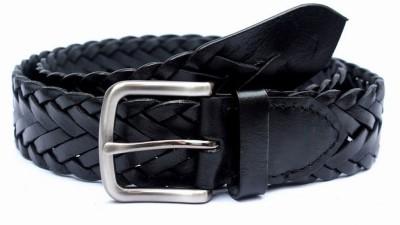 Tops Men Casual Black Genuine Leather Belt