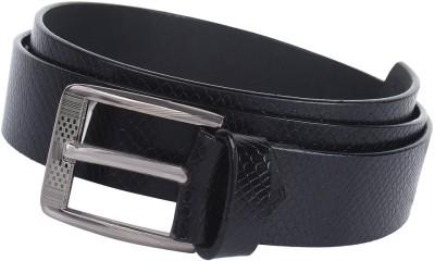 London Fashion Men Formal Black Genuine Leather Belt