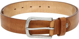 GAS Men Brown Genuine Leather Belt