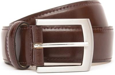Kethini Men Formal Maroon Genuine Leather Belt