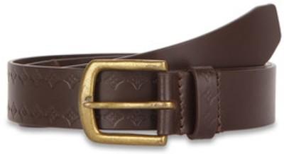 Paradigm Design Lab Men Casual Brown Genuine Leather Belt