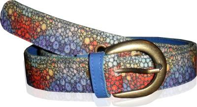 JAJV Women Casual Blue Canvas Belt