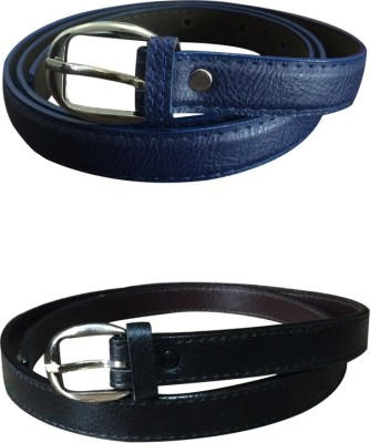 Verceys Girls Casual Blue, Black Artificial Leather Belt