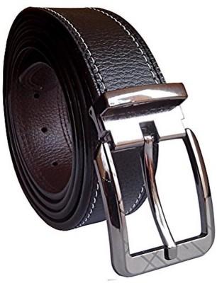 KRG ENTERPRISES Men Casual, Party, Formal Black Genuine Leather Belt