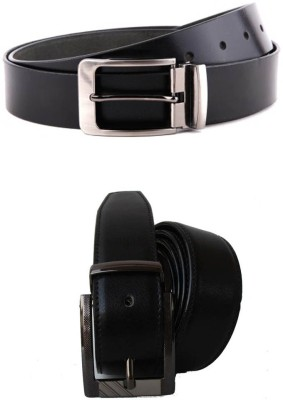 Jars Collections Men Black Artificial Leather Belt