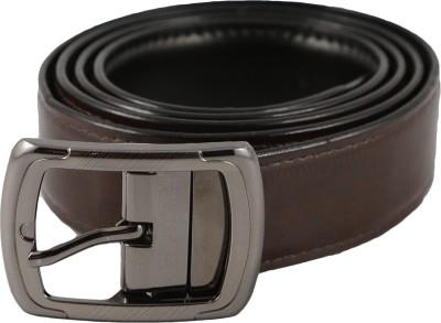Desi Saga Men Casual Brown Artificial Leather Reversible Belt